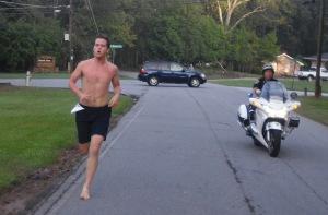 Barefoot Runner Mikey Valentine